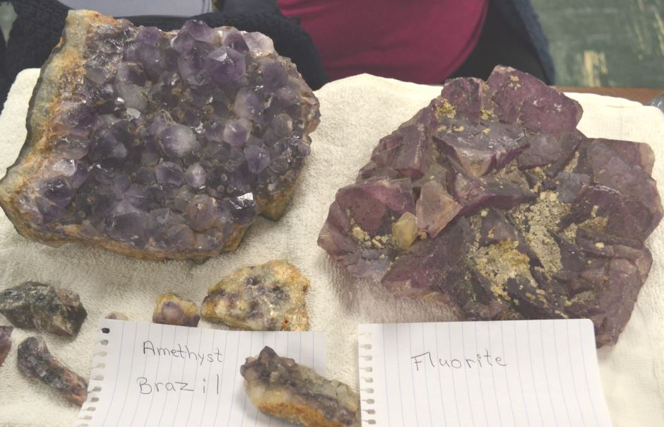 Kathleen came with really nice cabinet pieces of both amethyst and fluorite.