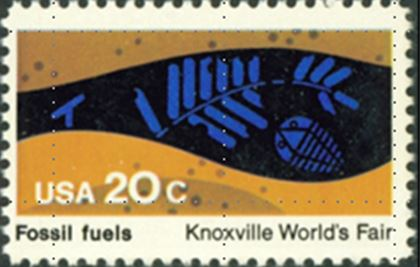 In 1982, the US commemorated fossil fuels with a stamp that included both a Carboniferous fern and a trilobite.