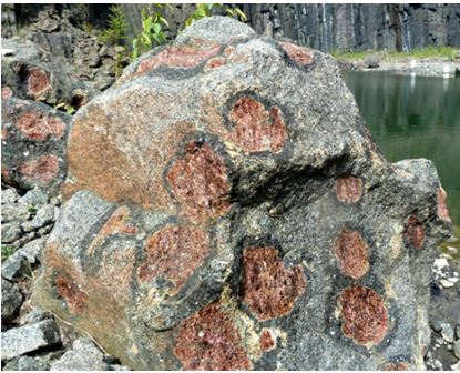 The large almandine garnets at Gore Mountain are examples of high grade metamorphic garnets.
