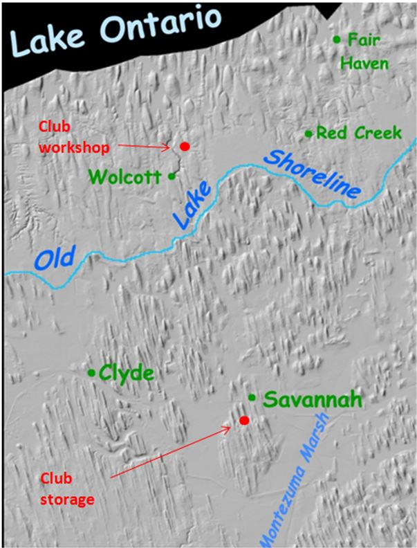 If you are bored, you can try to count the drumlins in this portion of Wayne County. Our area is so well known for its drumlin fields (often called swarms) that this shaded relief image map (sans the location of the WCGMC sites!) appears as the type example the Wikipedia drumlin entry. I wonder how many of our club members have their homes on this map?