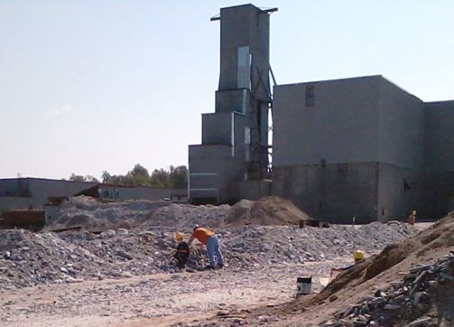 The ZCA #4 shaft that Ken and Rocky must have used to enter the Balmat Zinc Mine. The current owners maintain the underground mine and equipment in hopes that the price of zinc will permit the mine to re-open. Photo is from a 2013 of mine.