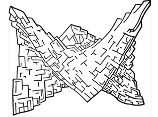 A diagrammatical view of saddle dolomite.