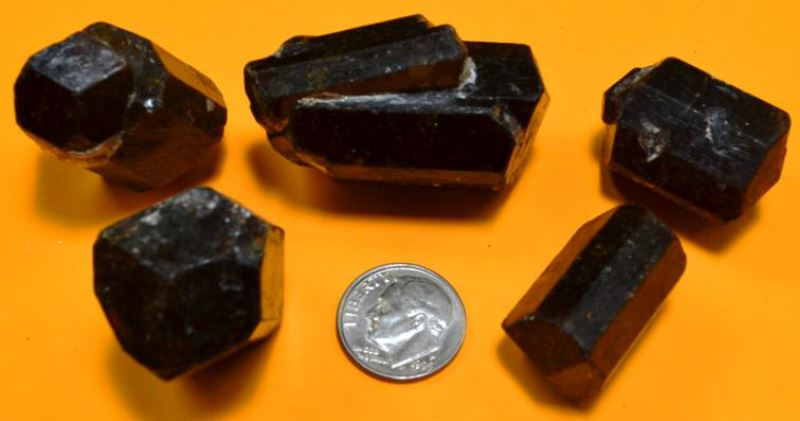 Yinnietharra dravite from the Wayne County Gem and Mineral Club collection.