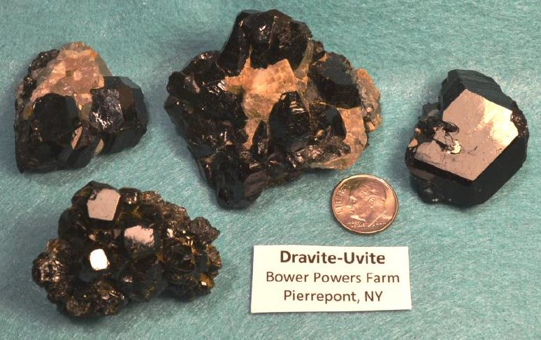 Lacking an analysis, I have chosen to label the black tourmaline I have collected at Powers Farm as Dravite-Uvite.