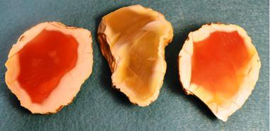 Carnelian agates