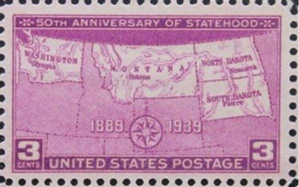 Scott # 858, issued November 2, 1939