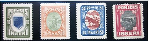 Recognize these stamps?  Steve told us all about North Ingermandland.  If you did not come and learn with us, you have to look up where it is !