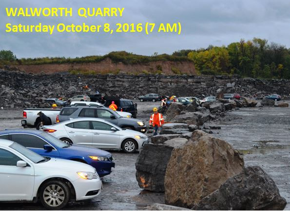 The day started dreary and we drove in with our headlights on at 7 AM, but 166 folks from as many as 7 states and 2 provinces descended into the quarry on Saturday.  Another 70 participated Sunday AM during the second day of the annual event.